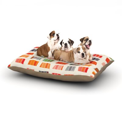 Daisy Beatrice Beach Towels Dog Pillow with Fleece Cozy Top Size: Large (50 W x 40 D x 8 H)