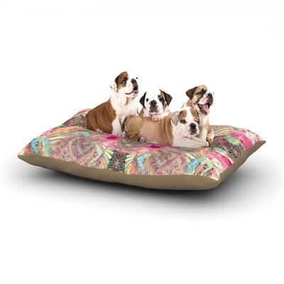 Danii Pollehn Indian Clash Dog Pillow with Fleece Cozy Top Size: Large (50 W x 40 D x 8 H)