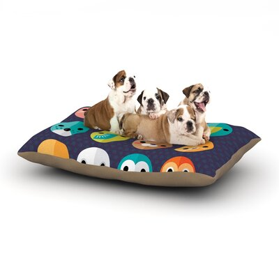 Daisy Beatrice Smiley Faces Dog Pillow with Fleece Cozy Top Size: Large (50 W x 40 D x 8 H)