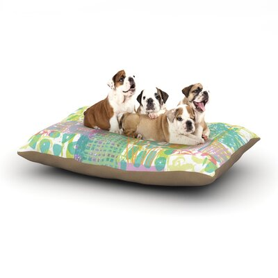 Chickaprint Dazed Pastel Splatter Dog Pillow with Fleece Cozy Top Size: Large (50 W x 40 D x 8 H)