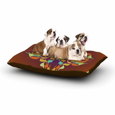 Dan Sekanwagi Purple Feast Abstract Dog Pillow with Fleece Cozy Top Size: Small (40 W x 30 D x 8 H)