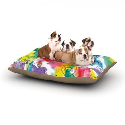Danii Pollehn Fruits Dog Pillow with Fleece Cozy Top Size: Small (40 W x 30 D x 8 H)