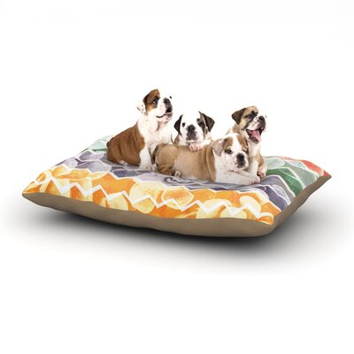 Daisy Beatrice Desert Dreams Chevron Dog Pillow with Fleece Cozy Top Size: Large (50 W x 40 D x 8 H)