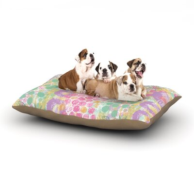 Chickaprint Impression Pastel Mix Dog Pillow with Fleece Cozy Top Size: Small (40 W x 30 D x 8 H)