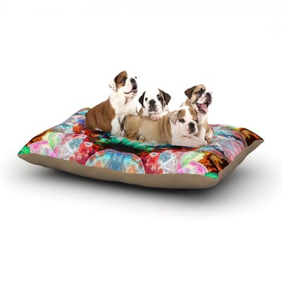 Danii Pollehn Achat II Dog Pillow with Fleece Cozy Top Size: Large (50 W x 40 D x 8 H)