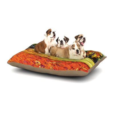 Jeff Ferst Summer Breeze Foliage Dog Pillow with Fleece Cozy Top Size: Small (40 W x 30 D x 8 H)