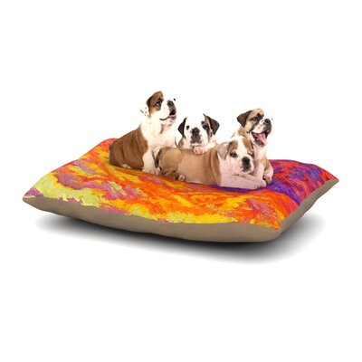 Jeff Ferst View From the Foothills Dog Pillow with Fleece Cozy Top Size: Large (50 W x 40 D x 8 H)