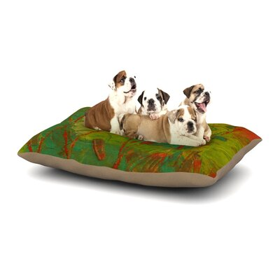 Jeff Ferst Evergreens Dog Pillow with Fleece Cozy Top Size: Small (40 W x 30 D x 8 H)