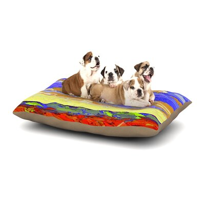 Jeff Ferst After the Storm Dog Pillow with Fleece Cozy Top Size: Small (40 W x 30 D x 8 H)