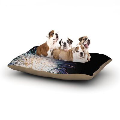 Jillian Audrey Firework Dog Pillow with Fleece Cozy Top Size: Small (40 W x 30 D x 8 H)