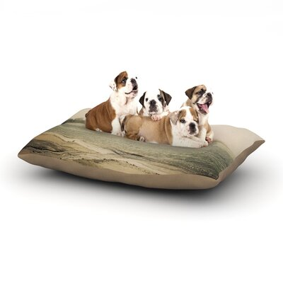 Jillian Audrey Stormy Coast Coastal Dog Pillow with Fleece Cozy Top Size: Large (50 W x 40 D x 8 H)
