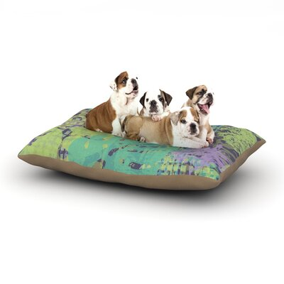 Chickaprint Verdure Collage Dog Pillow with Fleece Cozy Top Size: Small (40 W x 30 D x 8 H)