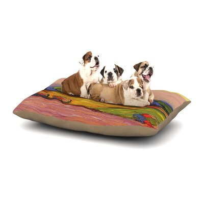 Jeff Ferst Pastoral View Painting Dog Pillow with Fleece Cozy Top Size: Small (40 W x 30 D x 8 H)