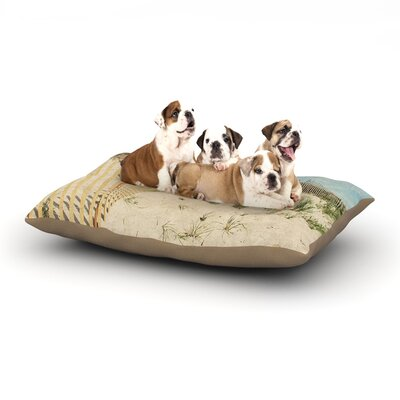 Jillian Audrey Cape Dunes Dog Pillow with Fleece Cozy Top Size: Large (50 W x 40 D x 8 H)