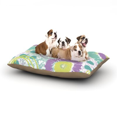 Chickaprint Splatter Dog Pillow with Fleece Cozy Top Size: Small (40 W x 30 D x 8 H)