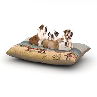 Jillian Audrey Summertime Dog Pillow with Fleece Cozy Top Size: Small (40 W x 30 D x 8 H)