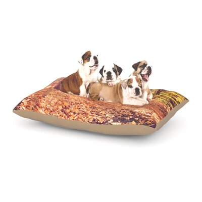 Jillian Audrey Autumn Hike Dog Pillow with Fleece Cozy Top Size: Large (50 W x 40 D x 8 H)