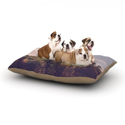 Jillian Audrey Walden Woods Dog Pillow with Fleece Cozy Top Size: Large (50 W x 40 D x 8 H)