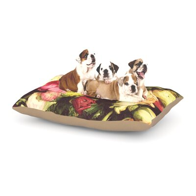 Jillian Audrey Ranunculus Dog Pillow with Fleece Cozy Top Size: Large (50 W x 40 D x 8 H)