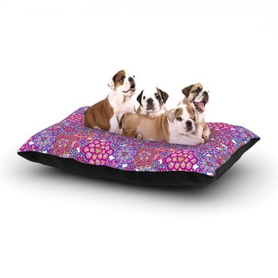Julia Grifol My Happy Flowers Dog Pillow with Fleece Cozy Top Size: Small (40 W x 30 D x 8 H)