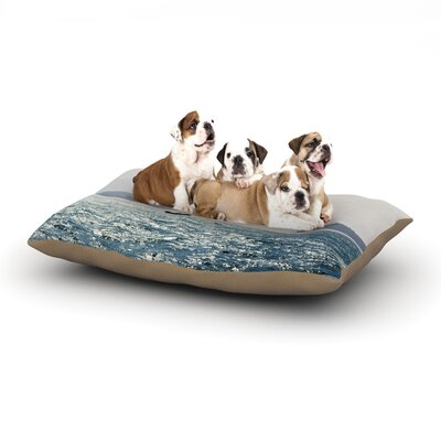 Jillian Audrey Sail the Sparking Seas Dog Pillow with Fleece Cozy Top Size: Small (40 W x 30 D x 8 H)