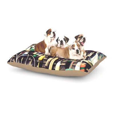 Jillian Audrey Hanging Buoys Dog Pillow with Fleece Cozy Top Size: Large (50 W x 40 D x 8 H)