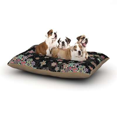 Julia Grifol My Small Flowers Floral Dog Pillow with Fleece Cozy Top Size: Small (40 W x 30 D x 8 H)
