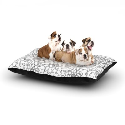 Julia Grifol White Flowers Dog Pillow with Fleece Cozy Top Size: Large (50 W x 40 D x 8 H)