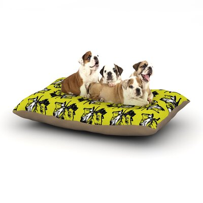 Julia Grifol Green Tree Leaves Dog Pillow with Fleece Cozy Top Size: Large (50 W x 40 D x 8 H)