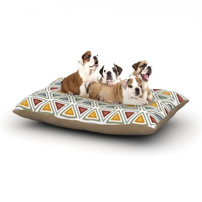 Julia Grifol Ikat Triangles Dog Pillow with Fleece Cozy Top Size: Small (40 W x 30 D x 8 H)