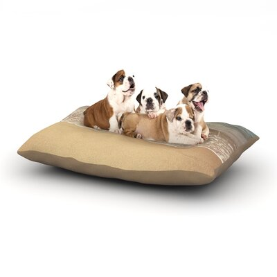 Jillian Audrey Waves Roll In Dog Pillow with Fleece Cozy Top Size: Small (40 W x 30 D x 8 H)