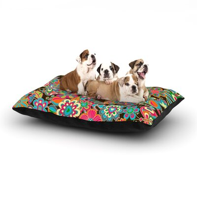 Julia Grifol My Butterflies & Flowers Dog Pillow with Fleece Cozy Top Size: Large (50 W x 40 D x 8 H)