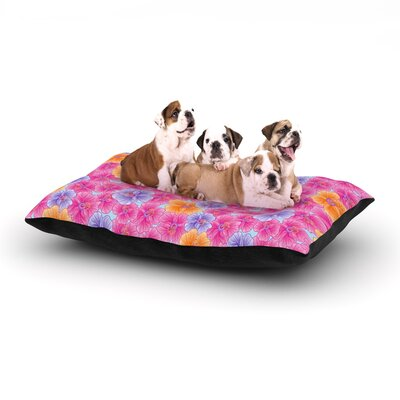 Julia Grifol My Pink Garden Dog Pillow with Fleece Cozy Top Size: Small (40 W x 30 D x 8 H)