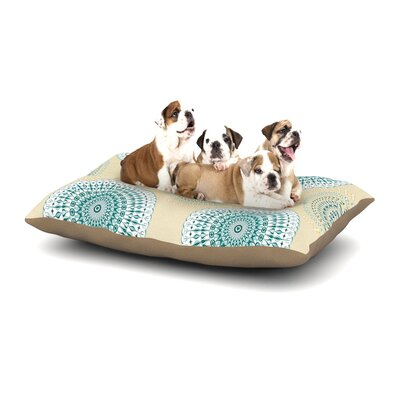 Julia Grifol Soft Mandalas Dog Pillow with Fleece Cozy Top