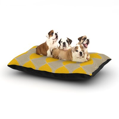 Julia Grifol Geometries in Yellow Dog Pillow with Fleece Cozy Top Size: Large (50 W x 40 D x 8 H)