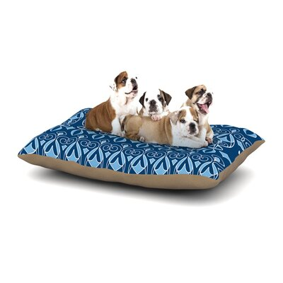 Julia Grifol Blue Deco Dog Pillow with Fleece Cozy Top