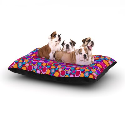 Julia Grifol My Colourful Circles Dog Pillow with Fleece Cozy Top Size: Small (40 W x 30 D x 8 H)