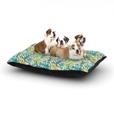 Julia Grifol Tropical Leaves Dog Pillow with Fleece Cozy Top Size: Large (50 W x 40 D x 8 H)