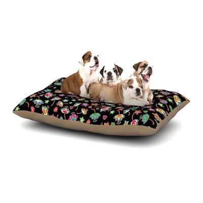 Julia Grifol Sweet Flowers Dog Pillow with Fleece Cozy Top