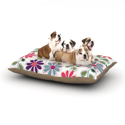Jolene Heckman Fall Flowers Floral Dog Pillow with Fleece Cozy Top Size: Small (40 W x 30 D x 8 H)