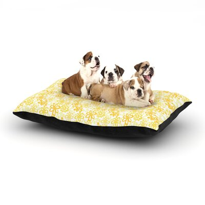 Julie Hamilton Paper Daisy Dog Pillow with Fleece Cozy Top Size: Small (40 W x 30 D x 8 H)