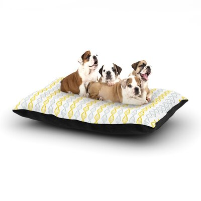 Julie Hamilton Pod Dog Pillow with Fleece Cozy Top Color: Yellow, Size: Large (50 W x 40 D x 8 H)