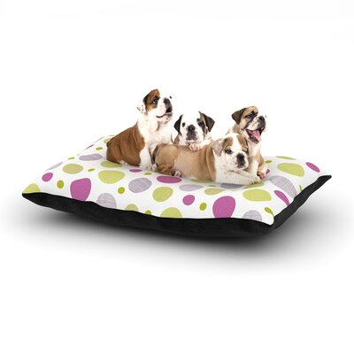 Julie Hamilton Rhapsody Dot Dog Pillow with Fleece Cozy Top Size: Large (50 W x 40 D x 8 H)