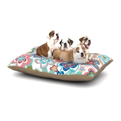 Jolene Heckman A Marsala Morning Floral Dog Pillow with Fleece Cozy Top Size: Small (40 W x 30 D x 8 H)