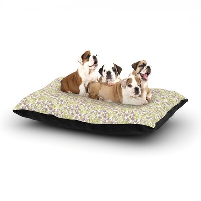 Julie Hamilton Rhapsody Vine Dog Pillow with Fleece Cozy Top Size: Large (50 W x 40 D x 8 H)