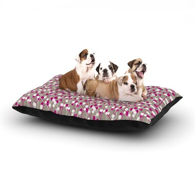 Julie Hamilton Wineberry Dog Pillow with Fleece Cozy Top Size: Large (50 W x 40 D x 8 H)