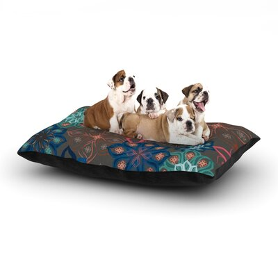 Jolene Heckman Floral Arrangements Flowers Dog Pillow with Fleece Cozy Top Size: Large (50 W x 40 D x 8 H)