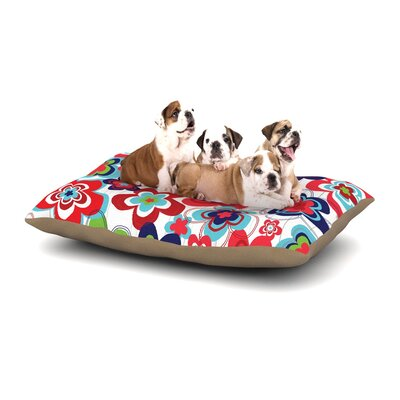 Jolene Heckman A Cheerful Morning Dog Pillow with Fleece Cozy Top Size: Large (50 W x 40 D x 8 H)