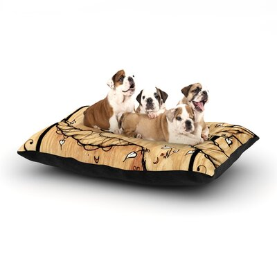 Jennie Penny Ram Dog Pillow with Fleece Cozy Top Size: Large (50 W x 40 D x 8 H)