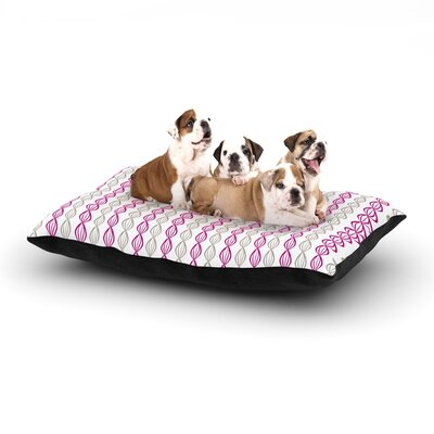 Julie Hamilton Pod Dog Pillow with Fleece Cozy Top Size: Large (50 W x 40 D x 8 H), Color: Purple